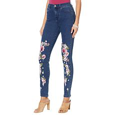 """As Is"" DG2 by Diane Gilman Virtual Stretch Anniversary Printed Jean"
