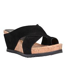 """""""As Is"""" Donald J. Pliner Sisu Leather Toe Loop Platform Wedge"""