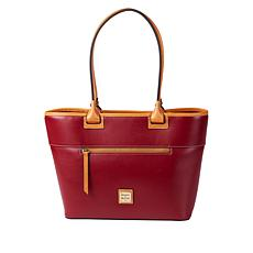"""As Is"" Dooney & Bourke Wexford Leather Zip Tote - Fashion"