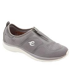 """As Is"" easy spirit Glossy Zip-Up Walking Shoe"
