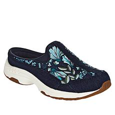 """As Is"" easy spirit Traveltime Prints Leather Sport Clog"
