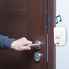 """""""As Is"""" Flipo Wireless Doorbell w/Motion-Sensing LED Light & Select..."""