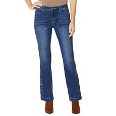 """""""As Is"""" G by Giuliana Buttoned-Leg Flare Jean"""