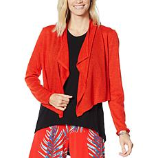 """""""As Is"""" G by Giuliana Cropped Cascade Cardigan"""