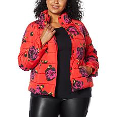 """""""As Is"""" G by Giuliana Cropped Puffer Jacket with Vest Set"""