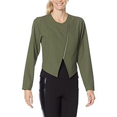 """""""As Is"""" G by Giuliana Diagonal Zip Front Jacket"""