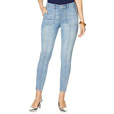 """As Is"" G by Giuliana Downtown Denim Ankle-Zip Skinny Jean"