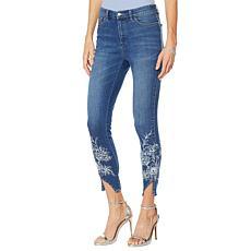 """As Is"" G by Giuliana Downtown Denim Printed Skinny Jean"