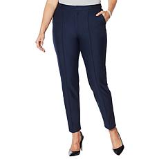 """As Is"" G by Giuliana Knit Twill Pintuck Ankle Pant"