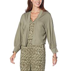 """""""As Is"""" G by Giuliana LounGy French Terry Knit Cardigan"""