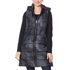 """""""As Is"""" G by Giuliana Printed Puffer Vest with Hood"""