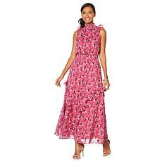 """As Is"" G by Giuliana Printed Ruffle Maxi Dress"