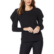 """""""As Is"""" G by Giuliana Puff Sleeve Crepe Knit Top"""