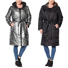 """As Is"" G by Giuliana Reversible Metallic Puffer Jacket"