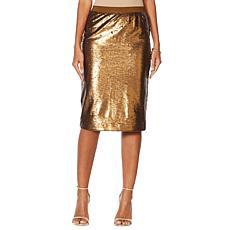"""As Is"" G by Giuliana Sequined Pencil Skirt"