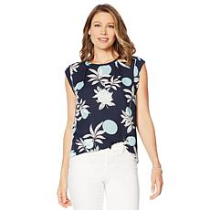 """As Is"" G by Giuliana Sleeveless Printed Top"