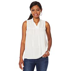 """""""As Is"""" G by Giuliana Summer Shine Woven Top"""