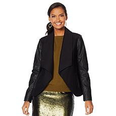"""As Is"" G by Giuliana Twill & Faux Leather Jacket"