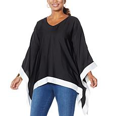 """As Is"" IMAN City Chic Contrast Colorblock Poncho"
