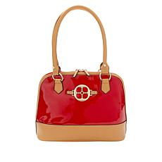 """As Is"" IMAN City Chic Patent Dome Satchel"