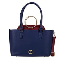 """""""As Is"""" IMAN Global Chic 2-in-1 Tote/Crossbody"""
