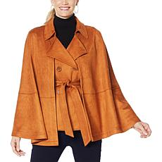 """As Is"" IMAN Global Chic 2-piece Convertible Cape Vest Jacket"