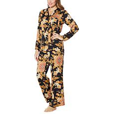 """As Is"" IMAN Global Chic 2-piece Medallion Paisley Print Pajama Set"