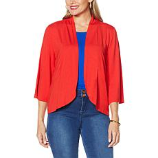 """""""As Is"""" IMAN Global Chic 3/4-Sleeve Open Front Knit Cardigan"""