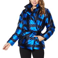 """""""As Is"""" IMAN Global Chic Belted Puffer Jacket"""