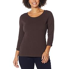 """""""As Is"""" IMAN Global Chic Contour Seamed 3/4-Sleeve Tee"""