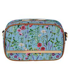 """As Is"" IMAN Global Chic Floral Print Crossbody Bag"