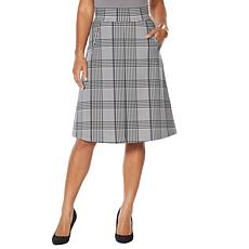 """""""As Is"""" IMAN Global Chic Inverted Pleat A-Line Skirt"""