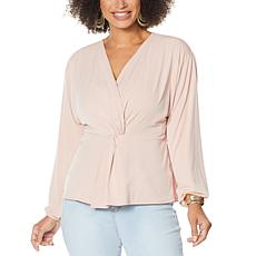 """""""As Is"""" IMAN Global Chic Long Sleeve Twist-Front Top"""