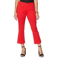 """""""As Is"""" IMAN Global Chic Luxury Resort 360 Slim Crop Jean"""