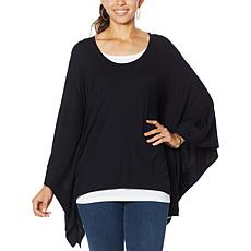"""As Is"" IMAN Global Chic Luxury Resort Poncho Tunic with Tank"