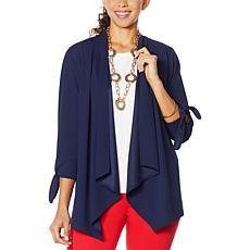 """""""As Is"""" IMAN Global Chic Tie-Sleeve Jacket"""