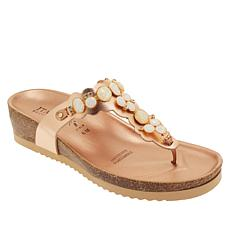 """As Is"" Italian Shoemakers Vixi Embellished Thong Sandal"