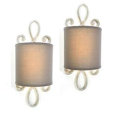 """As Is"" It's Exciting Lighting 2-pack Battery Powered LED Wall Sconce"