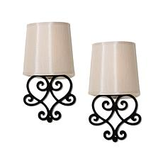 """As Is"" It's Exciting Lighting 2-pack Battery-Powered Wall Sconce Set"