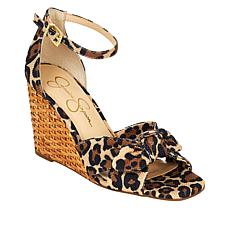 """As Is"" Jessica Simpson Deirah Basketweave Wedge Sandal"