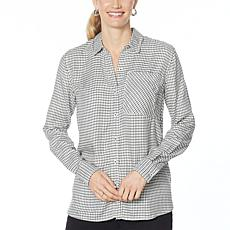 """""""As Is"""" Jessica Simpson Petunia Button-Down Printed Shirt"""
