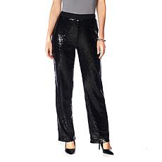"""As Is"" Joan Boyce Sequin Mesh Flare Leg Pant"