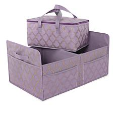 """As Is"" JOY Ultimate Closet Trunk Organizer with Insulated Tote - B..."
