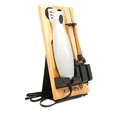 """As Is"" Kitchen HQ Electric Knife with Two Blades, Stand and Board"