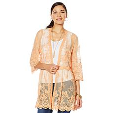 """""""As Is"""" LaBellum by Hillary Scott Lace Topper with Scalloped Hem"""