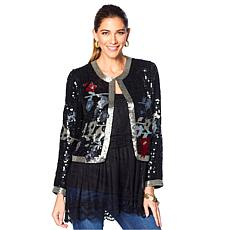 """""""As Is"""" LaBellum by Hillary Scott Sequined Jacket"""