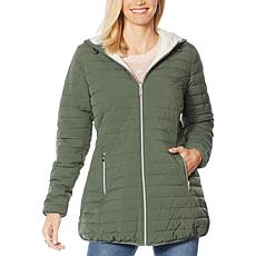 """""""As Is"""" Laurier Hooded Stretch Reversible Coat"""