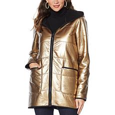 """""""As Is"""" Laurier Metallic Quilted Coat"""