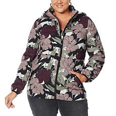 """As Is"" Laurier Water-Resistant Printed Stretch Puffer Coat"