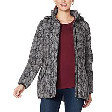 """""""As Is"""" Laurier Water-Resistant Printed Stretch Puffer Coat"""